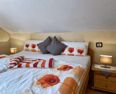 Ferienwohnung Mohn Schlafzimmer