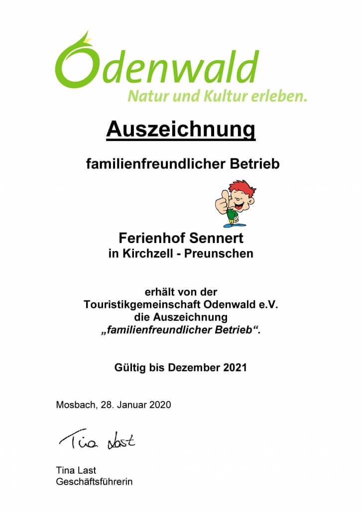 Familienfreundlicher_Betrieb_Urkunde